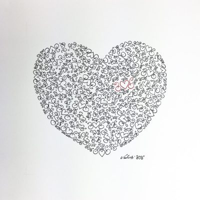 Heart Bikes | Original Cycling Art