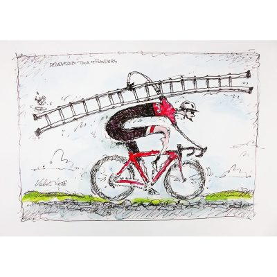 Degenkolb's Plan | Original Cycling Art
