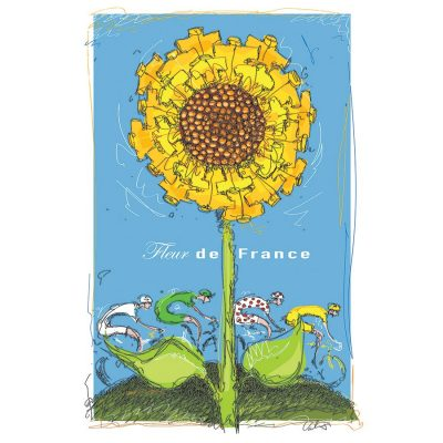 Maillot Jaune Sunflower | Cycling Art Print