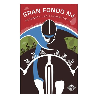 Gran Fondo NJ 2017 | Cycling Art Print