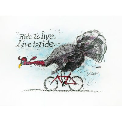 Ride to Live | Original Cycling Art