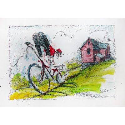 Rough Road | Original Cycling Art