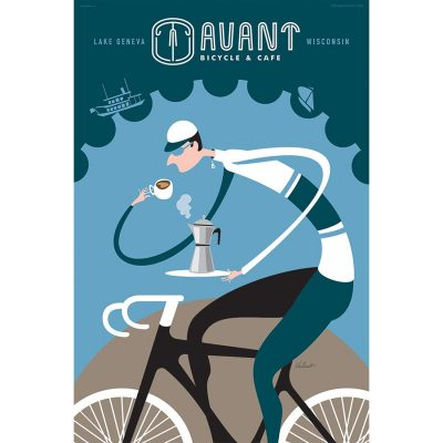Avant Bicycle & Cafe | Cycling Art Print