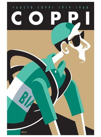 Coppi | Cycling Art Legend Print | Valenti