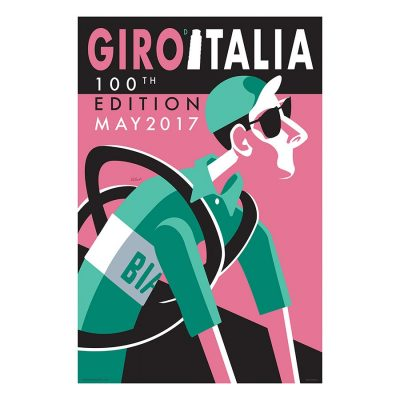 Giro d'Italia | 100 Edition | Cycling Art Print