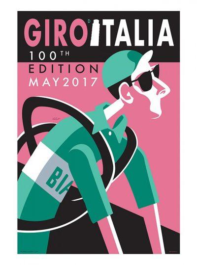 Giro d'Italia | 100 Edition | Cycling Art Print