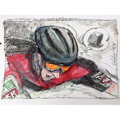 Van Avermaet | Paris-Roubaix | Original Cycling Art