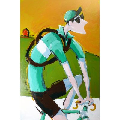 White Roads | Original Cycling Art