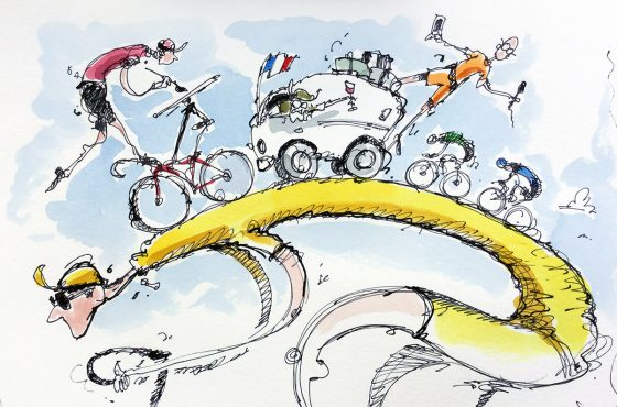 """Follow the """"Yellow Jersey Road""""!"""