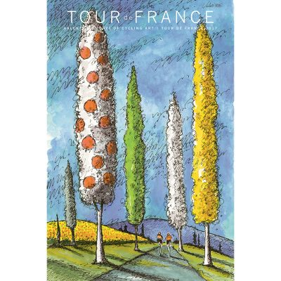 TdF | Jersey Trees | Cycling Art Series Print