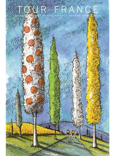 TdF | Jersey Trees | Cycling Art Series Print