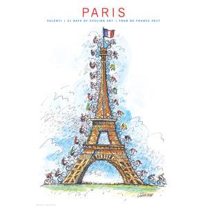 TdF | Paris | Cycling Art Series Print