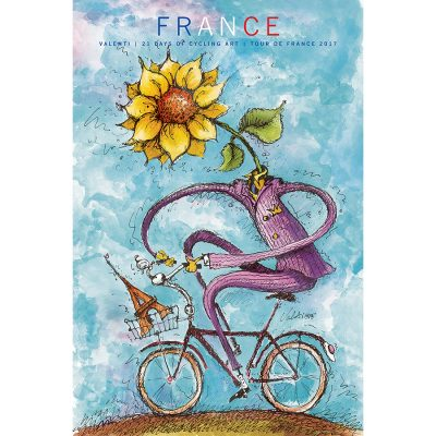 TdF | France Sunflower | Cycling Art Series Print