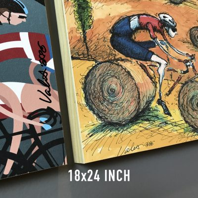 Box Mounted Canvas 18×24 | Cycling Art Prints