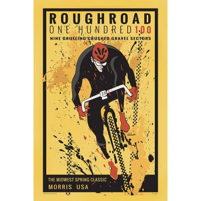 Rough Road 100 | Cycling Art Print