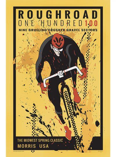 Rough Road 100 | Cycling Art Print