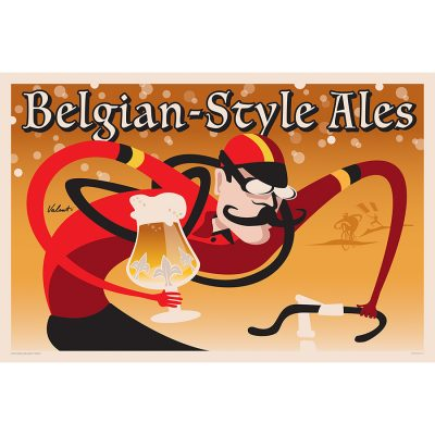 Belgian Style Ales | Cycling Art Print