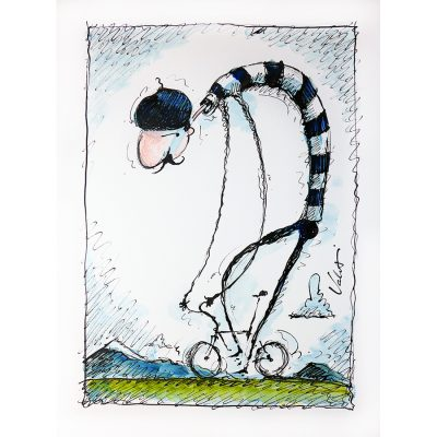 Le Cyclist | Original Cycling Art