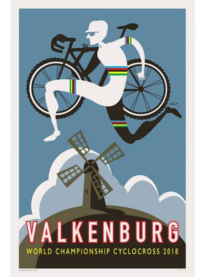 Valkenburg CX | Cycling Art Print | Valenti