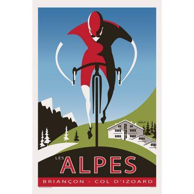 The Alpes | Cycling Art Print