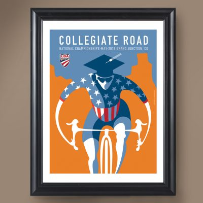 USAC Collegiate Road | Signed Edition Cycling Print