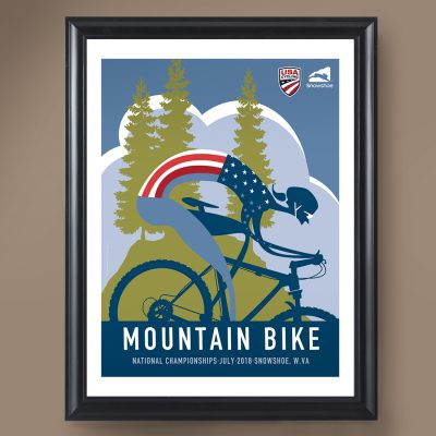 USAC MTB Nationals | Signed Edition Cycling Print