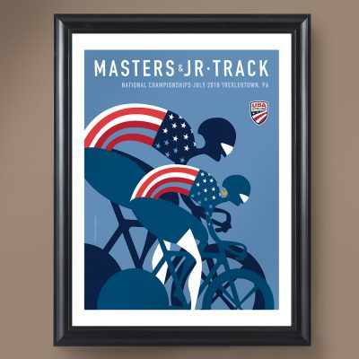 USAC Masters & JR Track | Signed Edition Cycling Print