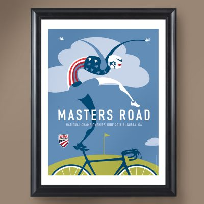 USAC Masters Road | Signed Edition Cycling Print
