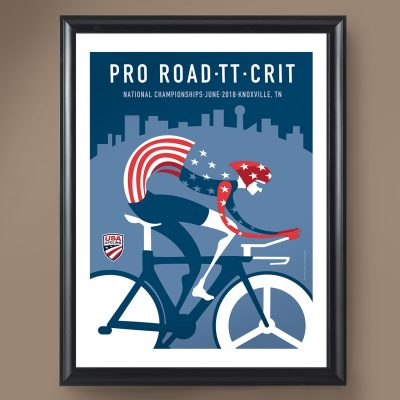 USAC Pro Road TT Crit Nationals | Signed Edition Cycling Print