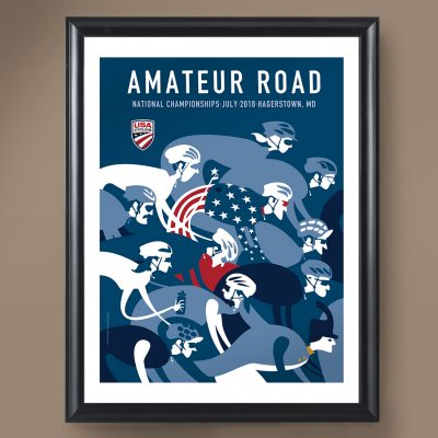 USAC Amateur Road Nationals | Signed Edition Cycling Print