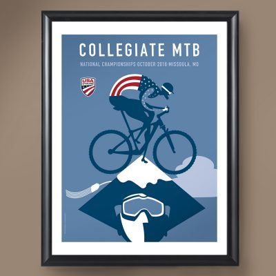 USAC Collegiate MTB Nationals | Signed Edition Cycling Print