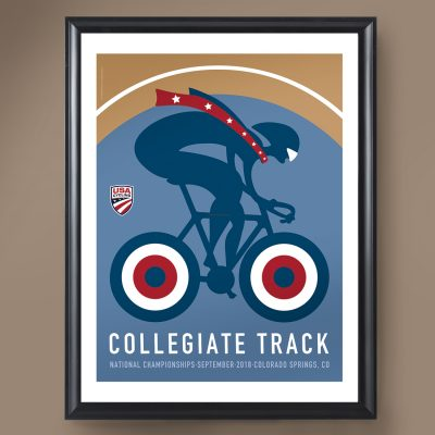 USAC Collegiate Track Nationals | Signed Edition Cycling Print