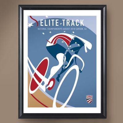 USAC Elite Track Nationals | Signed Edition Cycling Print