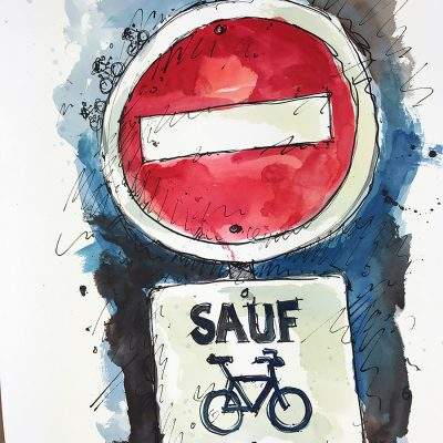 Except Bicycles | Original Cycling Art