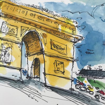 TdF Stage 21 | Original Cycling Art | Paris