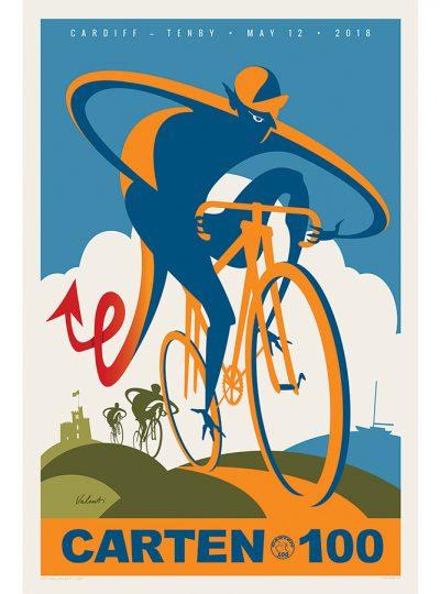 Carten 100 | Dragon Cycling Art Print | Valenti