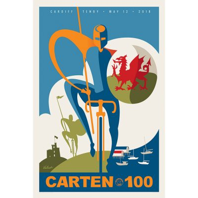Carten 100 | Knight | Cycling Art Print