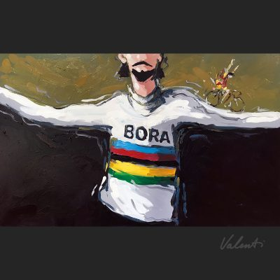 End of the Rainbow | Original Cycling Art
