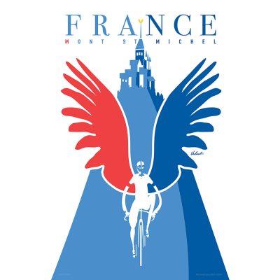 Mont Saint Michel | Cycling Art Print