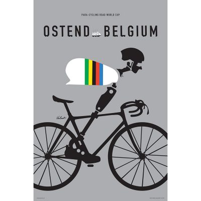 Para-Cycling Road World Cup | Ostend Belgium | Cycling Art Print