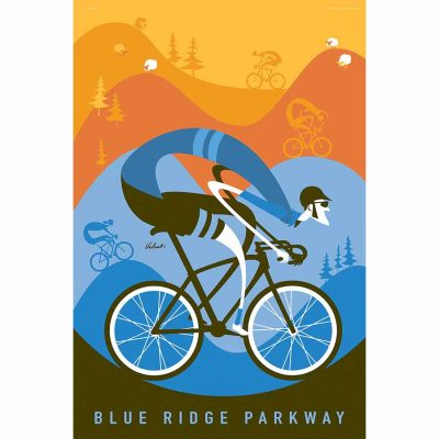 Blue Ridge Parkway | Cycling Art Print