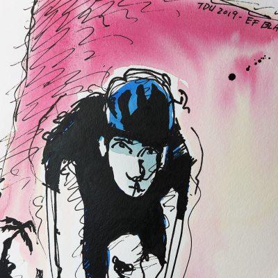 TDU | Original Cycling Art | EF Rapha Black Kit