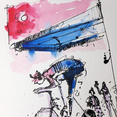 TDU | Original Cycling Art | EF Hot Days