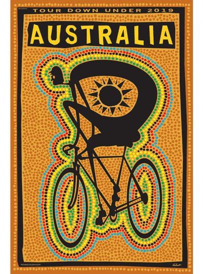 Tour Down Under Cycling Art Print | Valenti