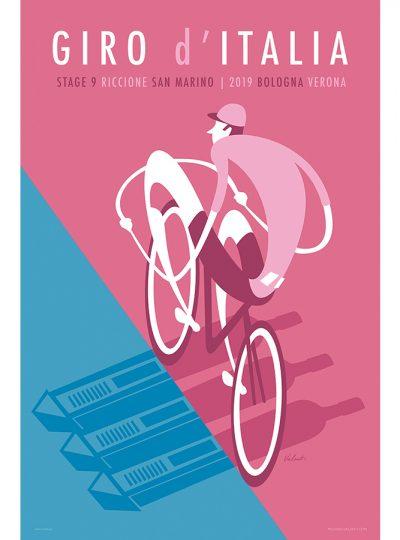 Giro 2019 Stage 9 | Cycling Art Print | Valenti