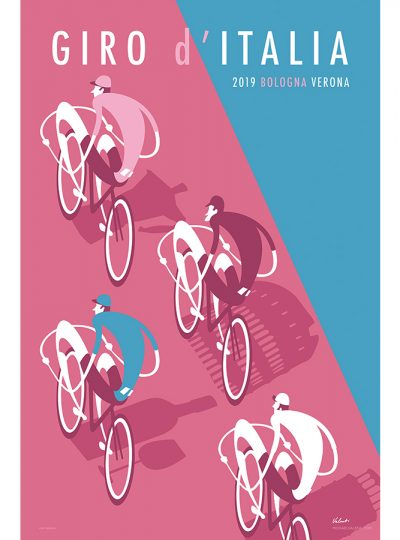 Giro 2019 Cycling Art Print | Michael Valenti