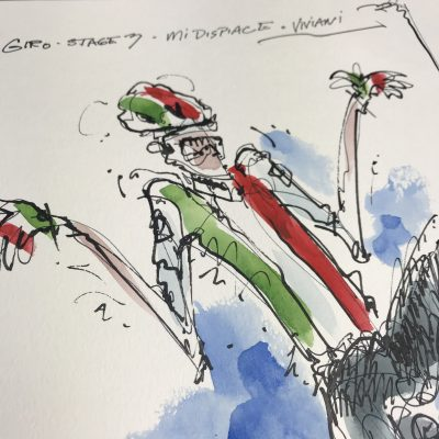 Giro Stage 3 | Viviani | Original Cycling Art