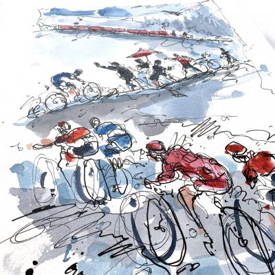 Giro Stage 14 | Courmayeur | Original Cycling Art