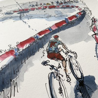 Giro Stage 13 | Big Russian | Original Cycling Art