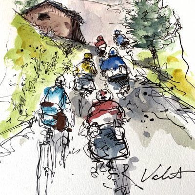 Giro Stage 16 | Mortirolo | Original Cycling Art